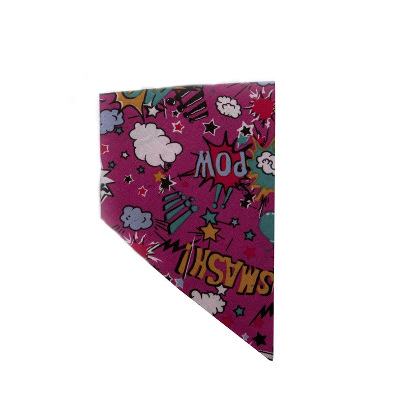 Creature Clothes Cartoon Pink Slip-on Dog Bandana - PurrfectlyYappy