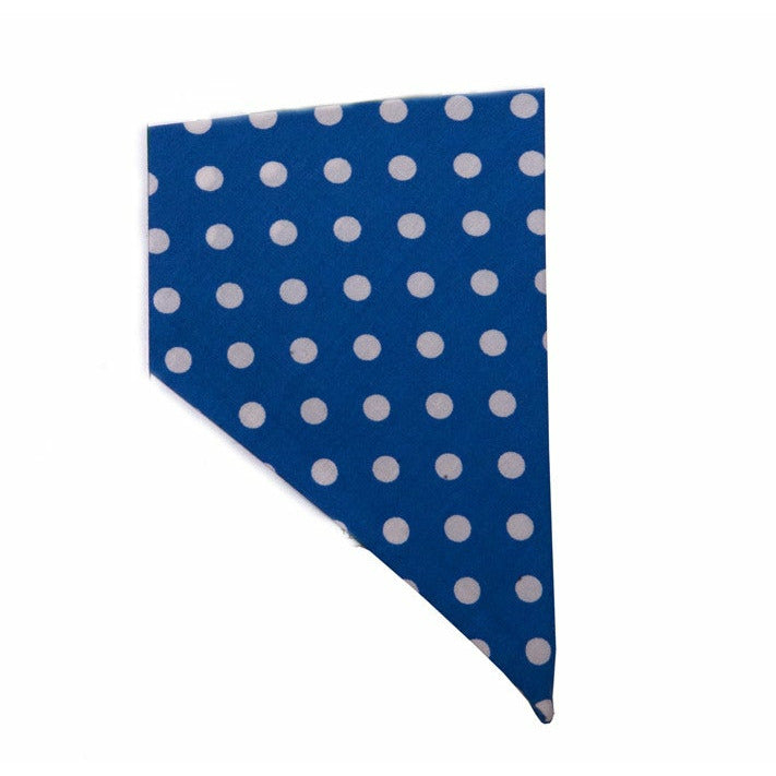 Creature Clothes Blue Polka Dot Slip-on Dog Bandana - PurrfectlyYappy