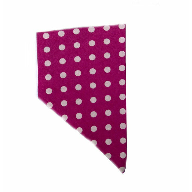 Creature Clothes Polka Dot Pink Slip-on Dog Bandana - PurrfectlyYappy