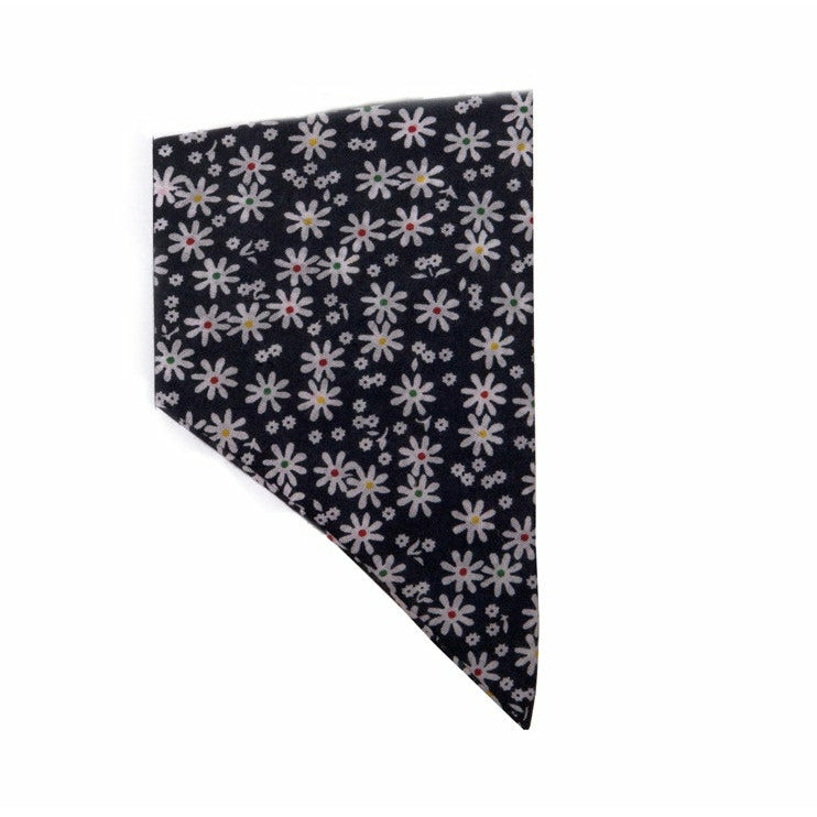 Creature Clothes Navy Blue Floral Slip-on Dog Bandana - PurrfectlyYappy