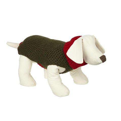 Lish London Smithy Red Polo Neck Dog Sweater