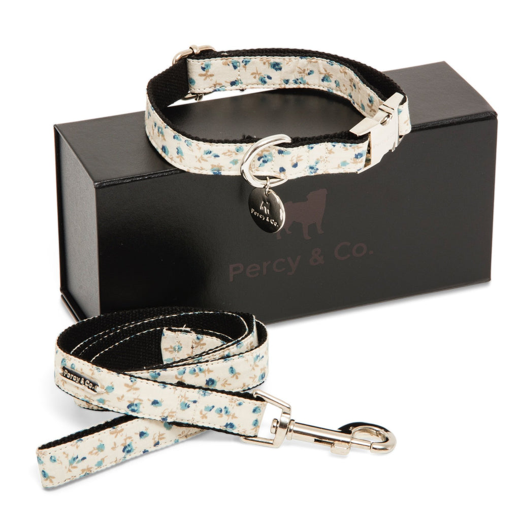 Percy & Co. Dog Collar & Lead Set in The Stamford - PurrfectlyYappy