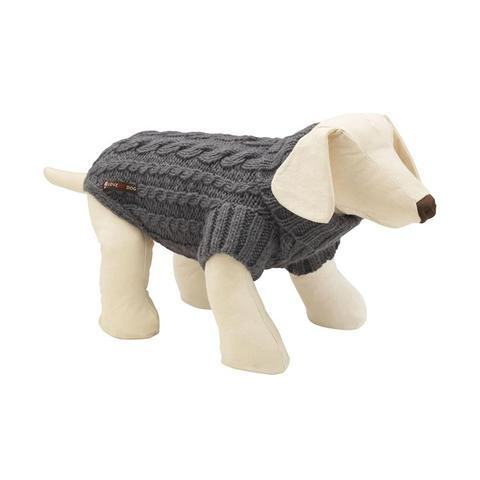 Lish London Wilmot Grey Dog Jumper