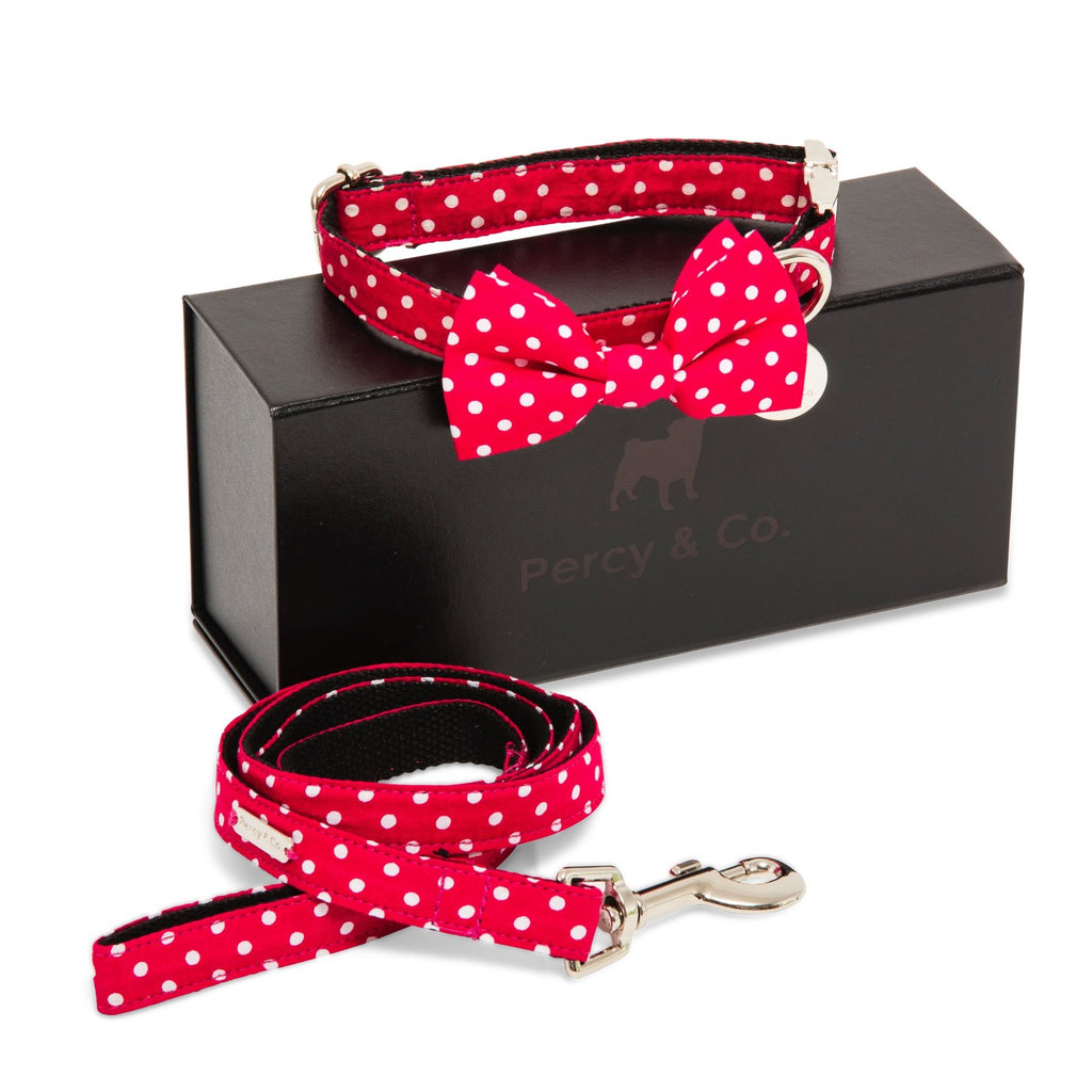 Percy & Co. Bow Tie Collar & Lead Set in The York - PurrfectlyYappy