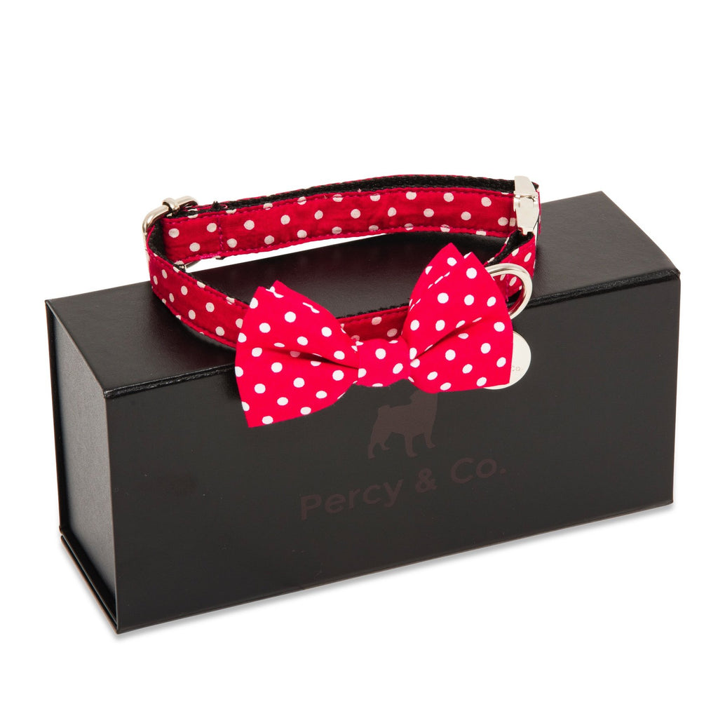 Percy & Co. Dog Collar Bow Tie in The York - PurrfectlyYappy