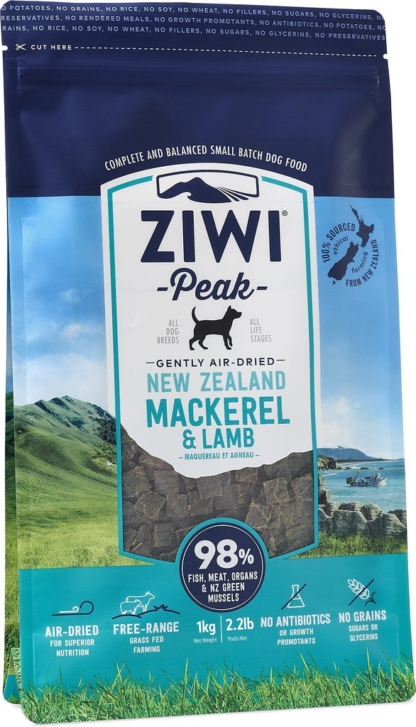 ZiwiPeak Air Dried Cuisine Mackerel & Lamb Dog Food - 2.5kg
