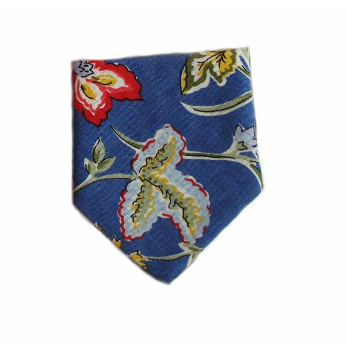 Creature Clothes Blue Floral Slip-on Dog Bandana - PurrfectlyYappy