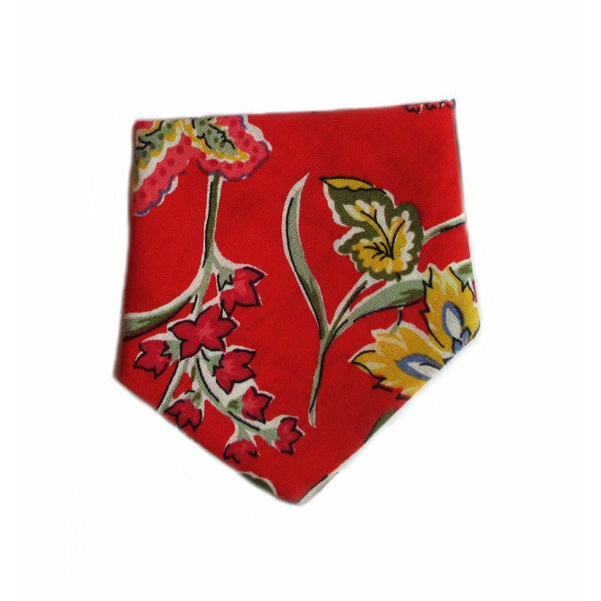 Creature Clothes Red Floral Slip-on Dog Bandana - PurrfectlyYappy