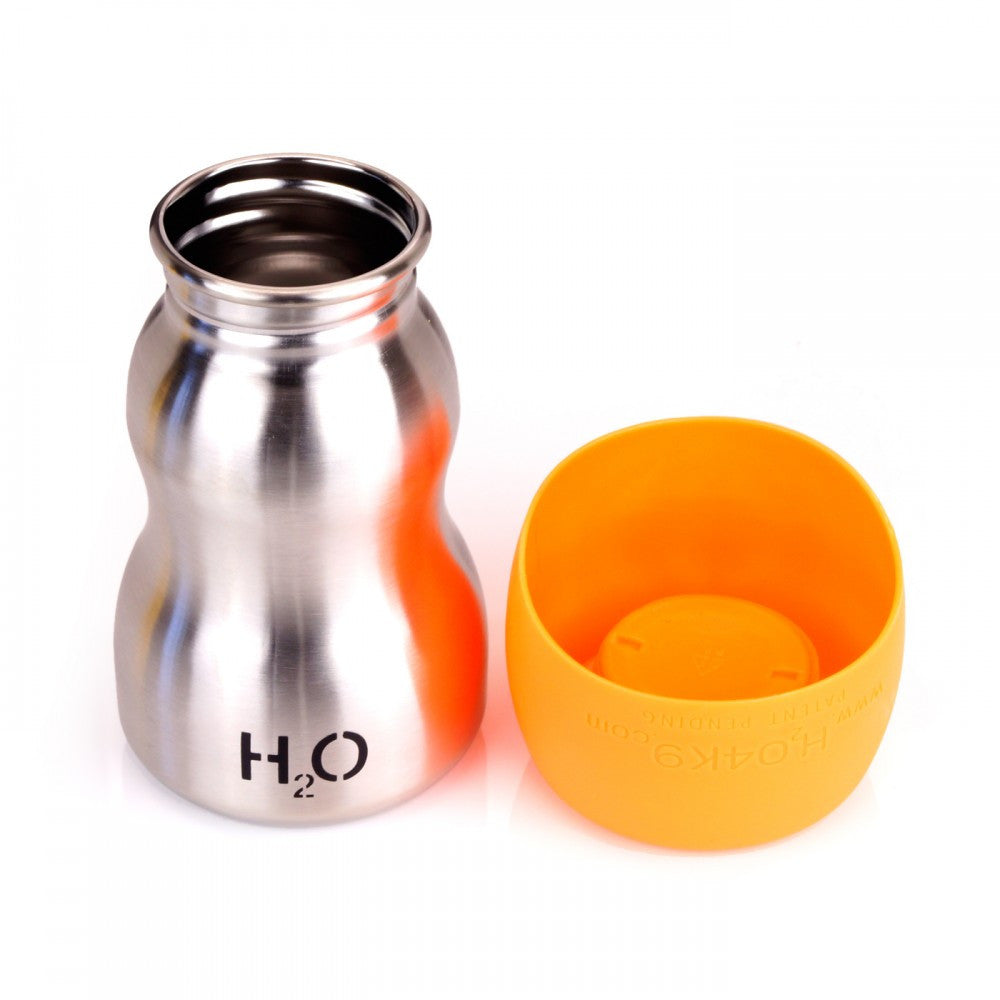 H2O4K9 9.5oz Stainless Steel in Orange - PurrfectlyYappy