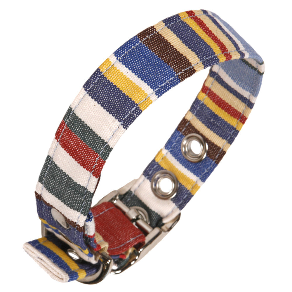 Creature Clothes Deckchair Stripe Dog Collar - PurrfectlyYappy