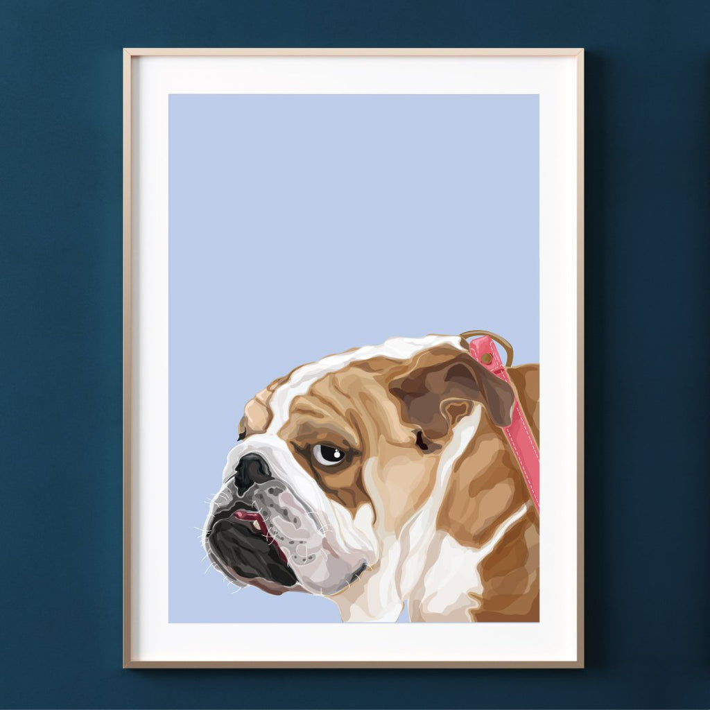 Make Like A Bandit BullDog Print
