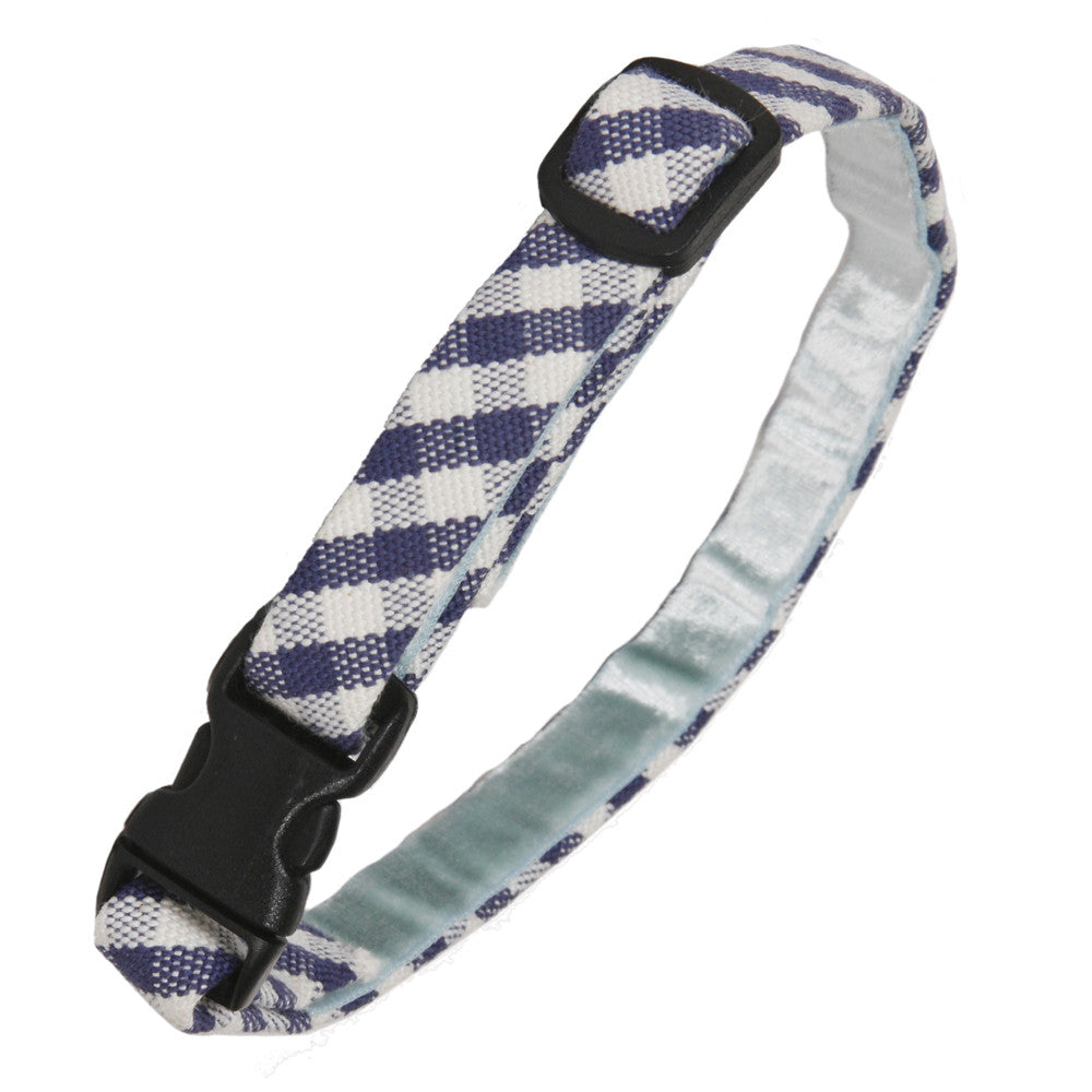Creature Clothes Blue Gingham Cat Collar - PurrfectlyYappy