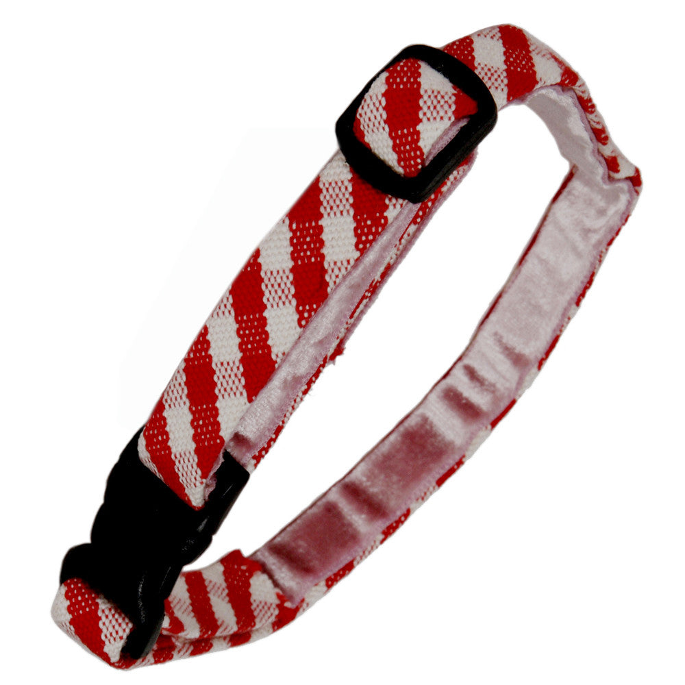 Creature Clothes Red Gingham Cat Collar - PurrfectlyYappy
