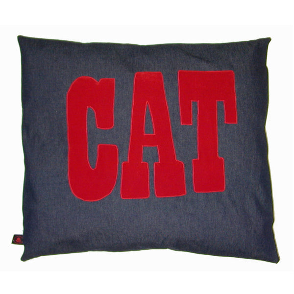Creature Clothes Cat Nappa Cat Bed in Denim Applique