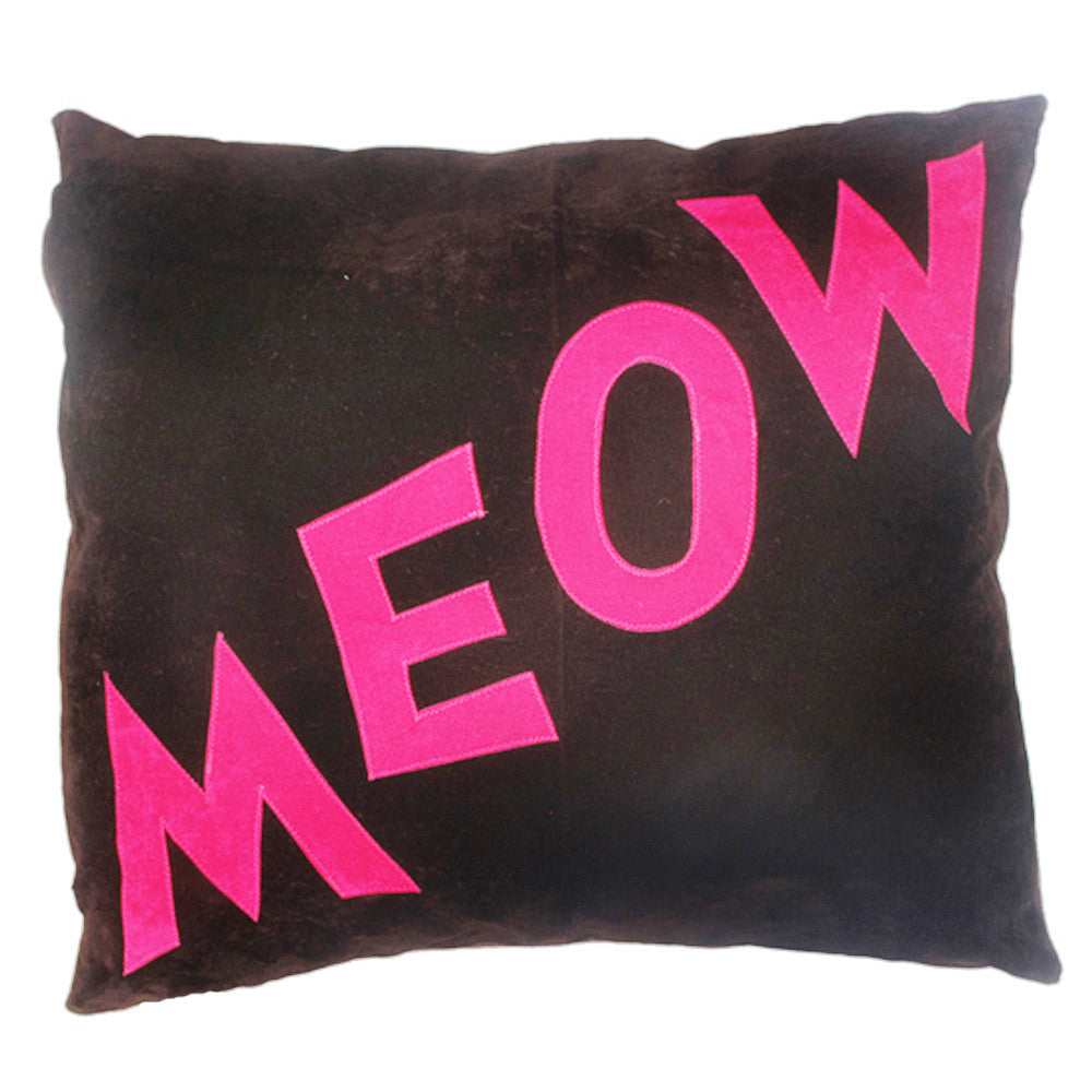 Creature Clothes Cat Nappa Meow Cat Bed in Brown and Pink - PurrfectlyYappy