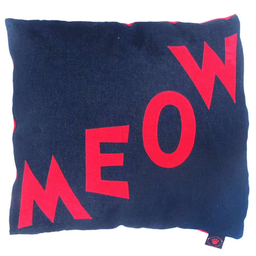 Creature Clothes Cat Nappa Meow Cat Bed in Denim - PurrfectlyYappy