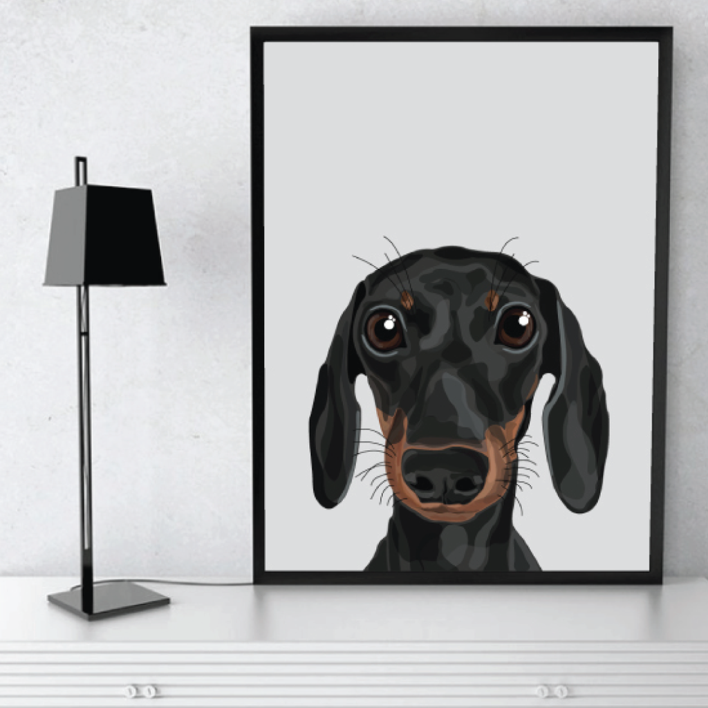 Make Like A Bandit Daschund Print