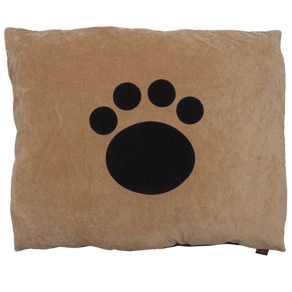 Creature Clothes Cat Nappa Tan Cat Bed with Applique Paw - PurrfectlyYappy