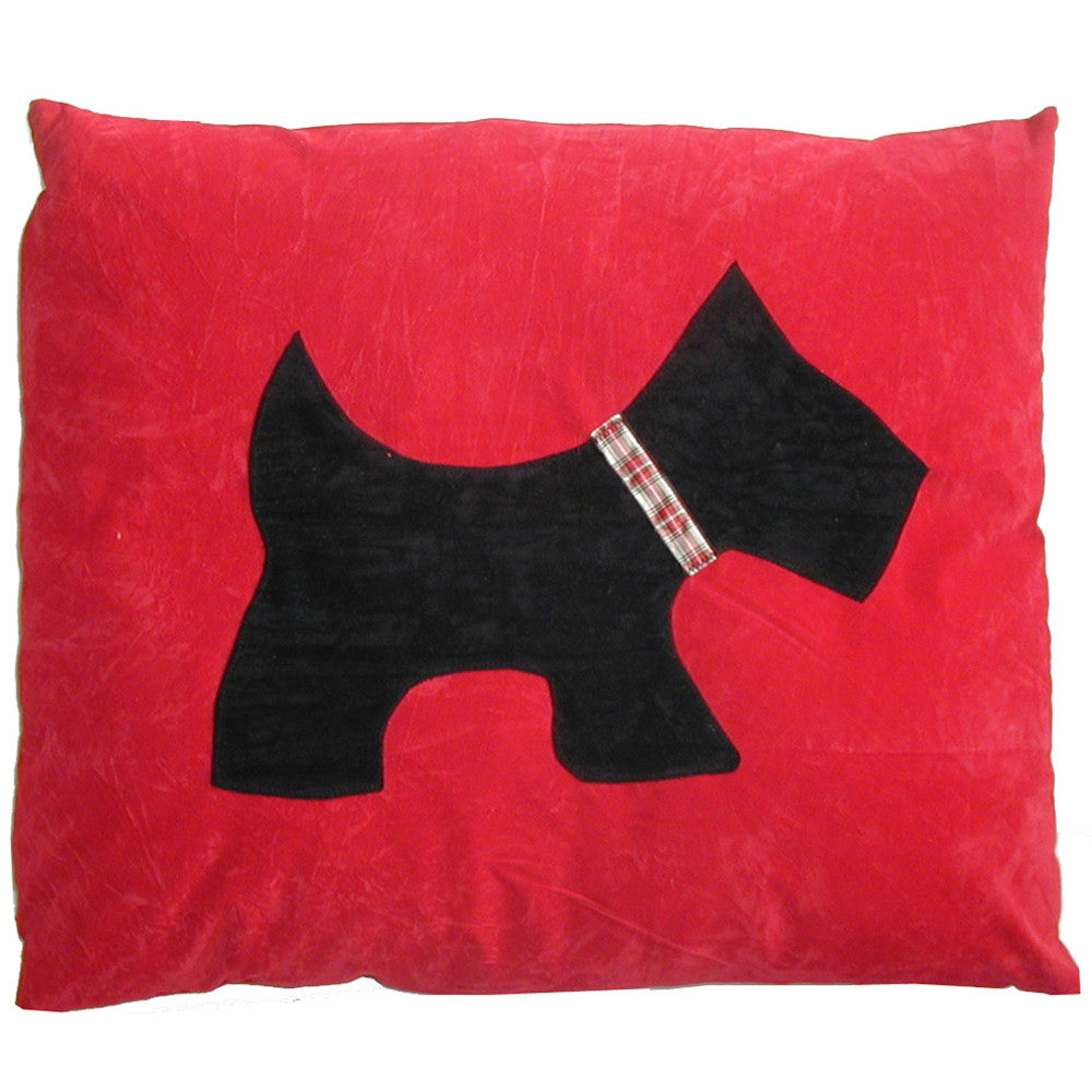 Creature Clothes Red Scottie Doza Dog Bed - PurrfectlyYappy