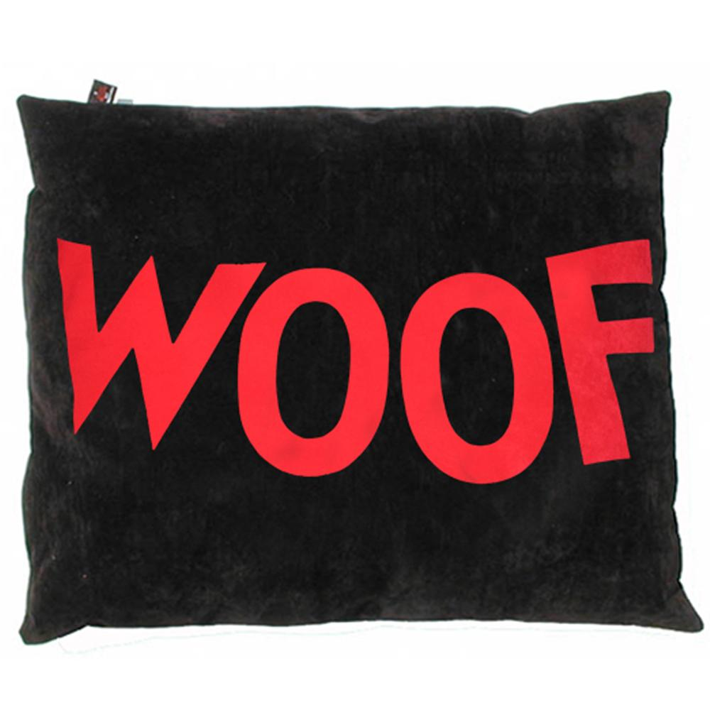 Creature Clothes Black Woof Doza Dog Bed - PurrfectlyYappy
