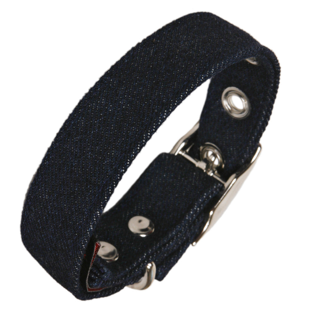 Creature Clothes Denim Dog Collar - PurrfectlyYappy