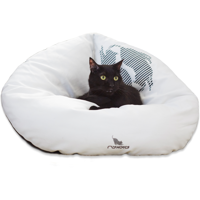 MyKotty Emi Cat Bed In White