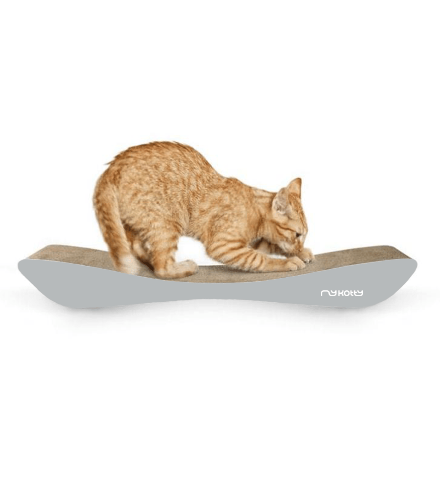 MyKotty Tobi Cat Scratcher In Grey
