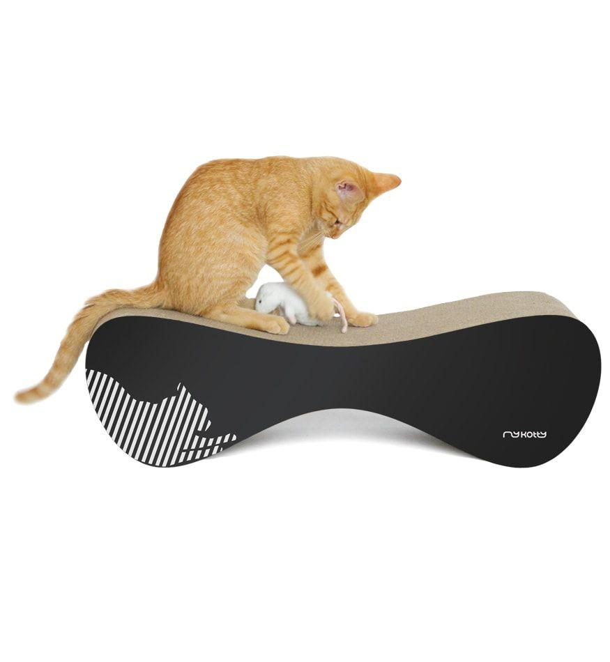 MyKotty Vigo Cardboard Cat Scratcher Lounge In Black