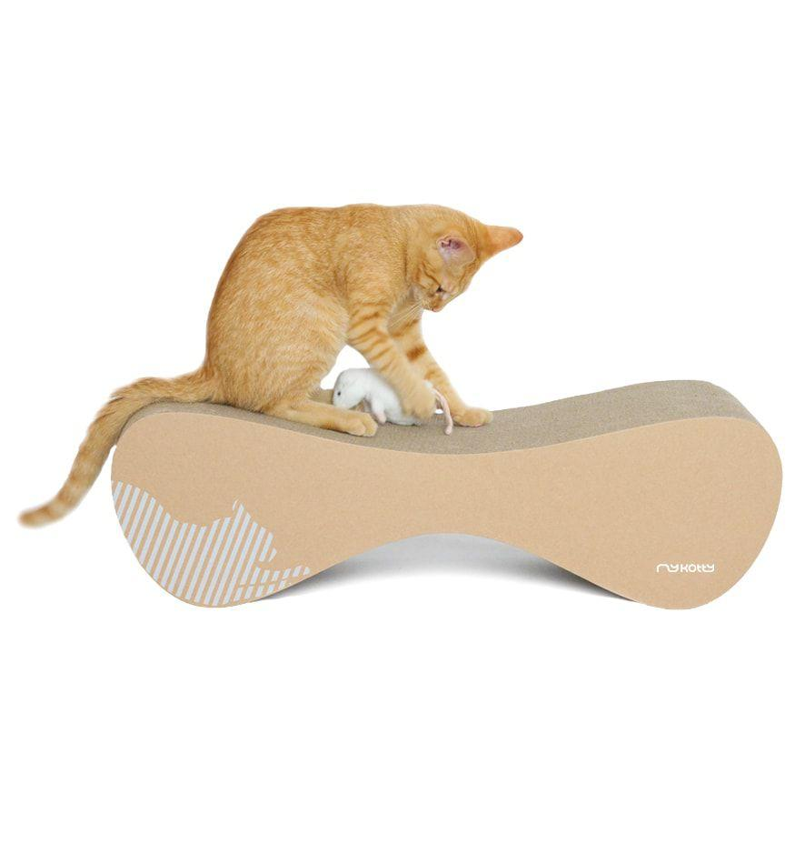 MyKotty Vigo Cardboard Cat Scratcher Lounge In Brown