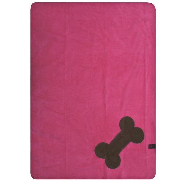 Creature Clothes Fleecy Pet Blanket in Pink and Brown - PurrfectlyYappy