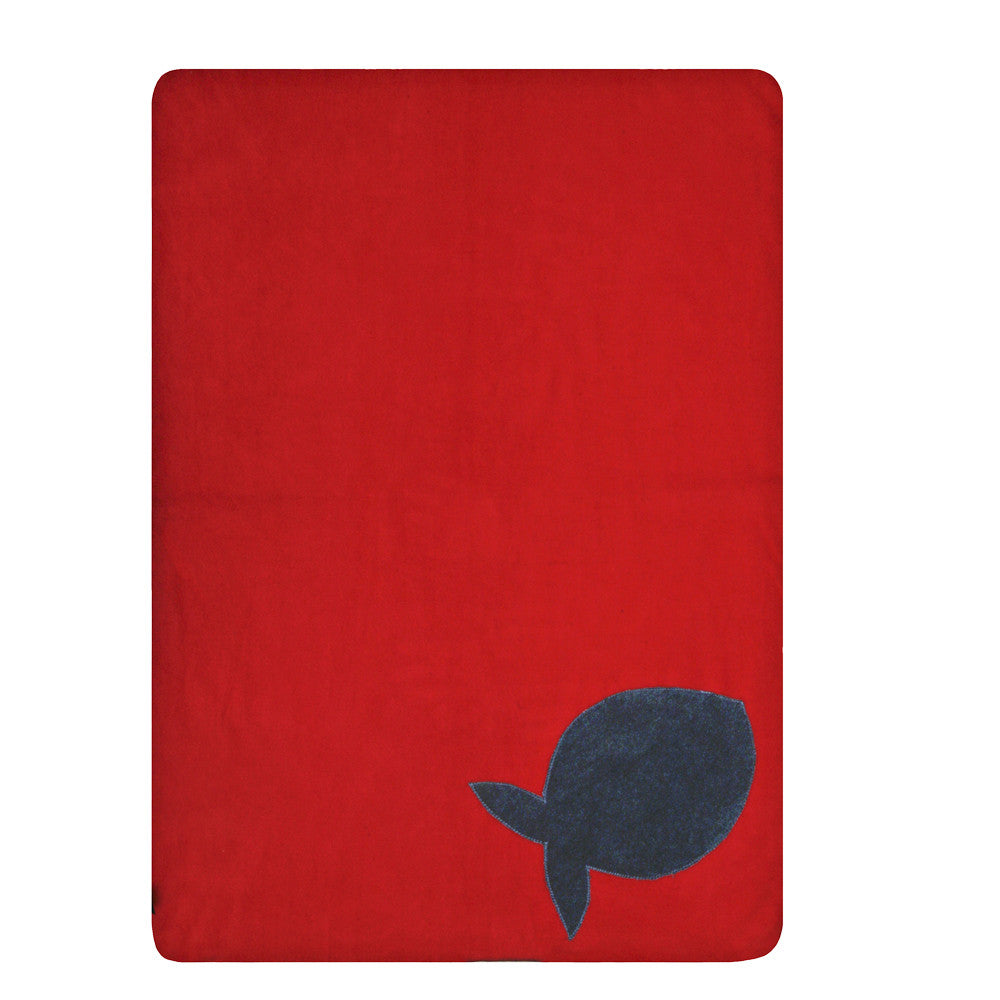 Creature Clothes Fleecy Fish Cat Blanket in Red - PurrfectlyYappy