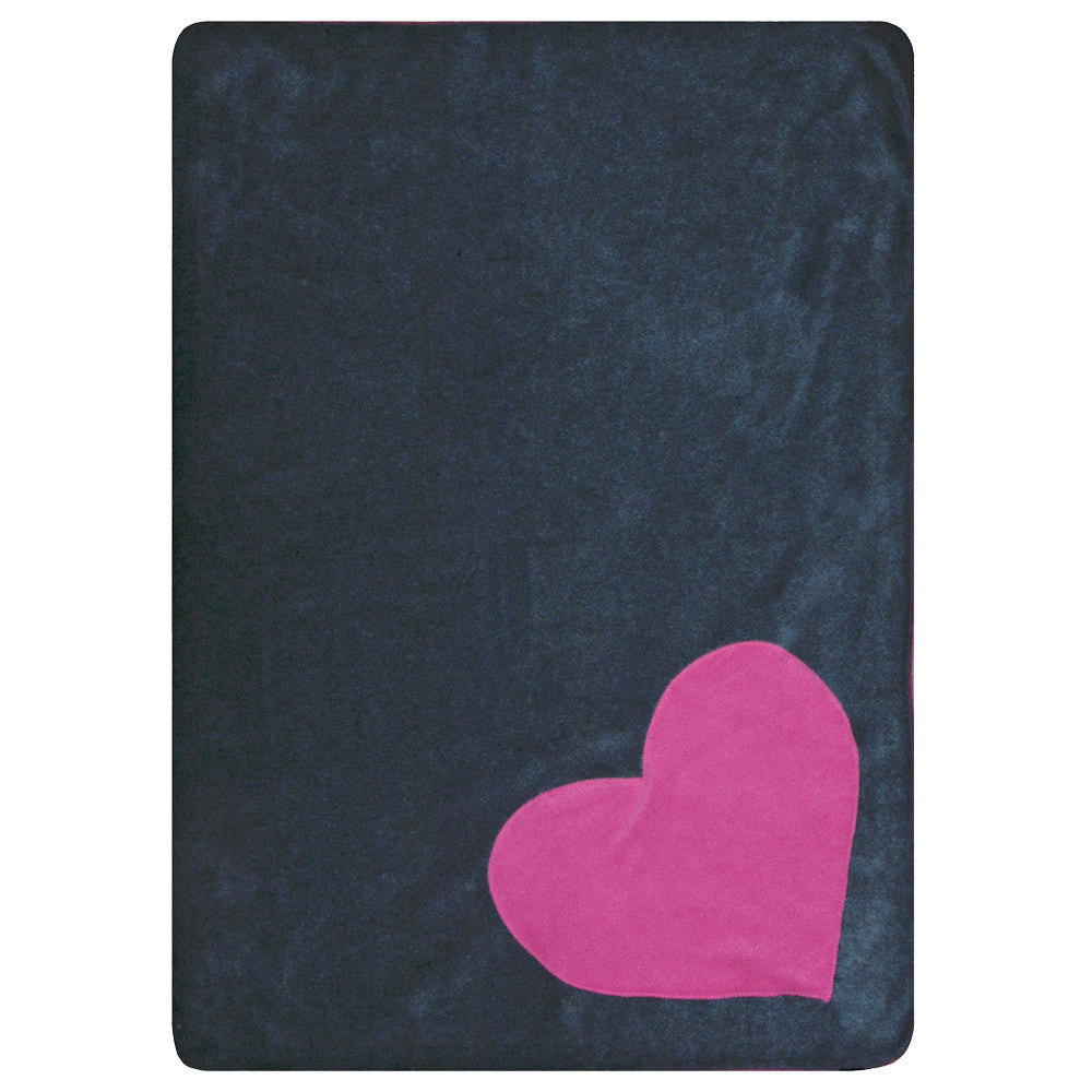 Creature Clothes Fleecy Pink Heart Cat Blanket in Grey - PurrfectlyYappy