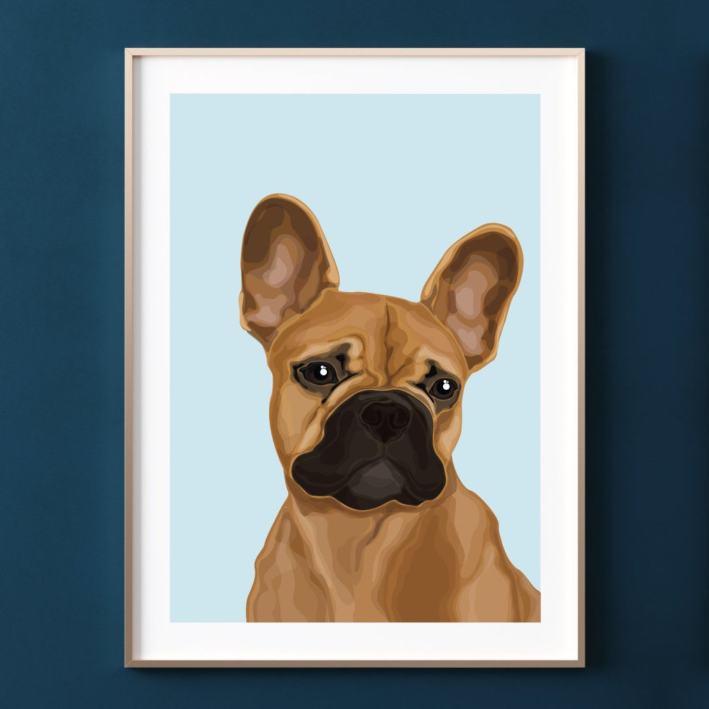 Make Like A Bandit French Bulldog Print