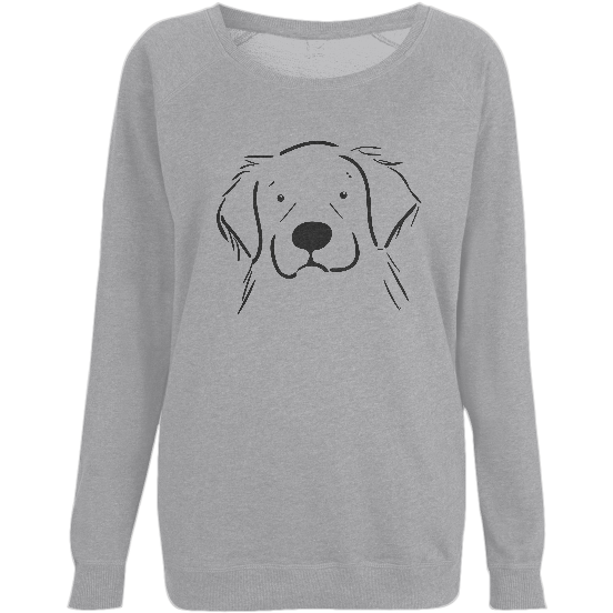 Women's Bert the Golden Retriever Organic Cotton Sweatshirt - PurrfectlyYappy