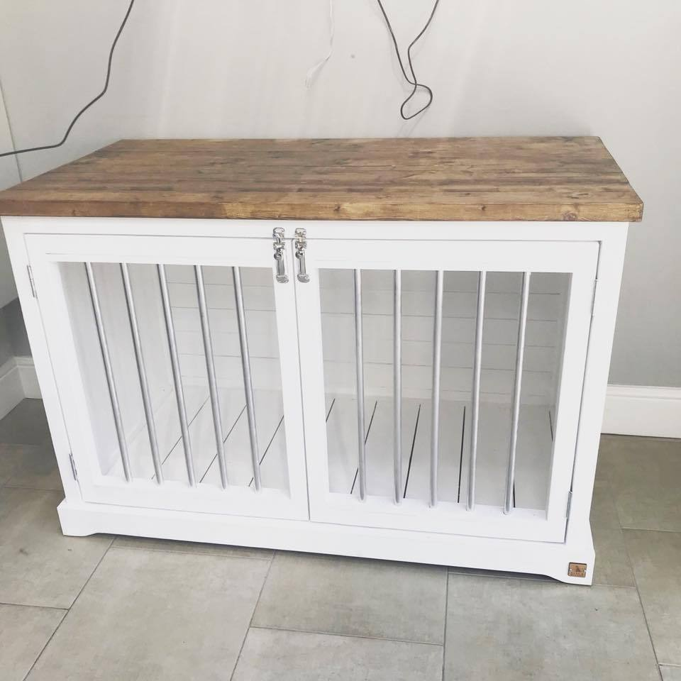 Handmade Wooden Dog Crate - PurrfectlyYappy