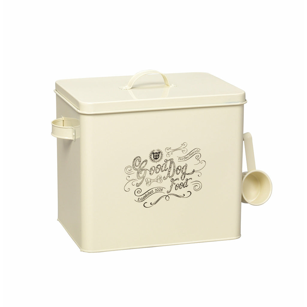 House of Paws Good Dog Large Food Bin with Scoop in Cream - PurrfectlyYappy