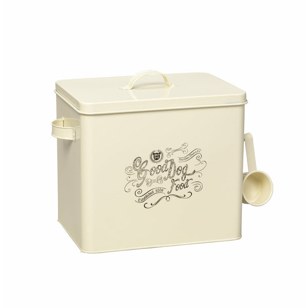 House of Paws Good Dog Large Food Bin with Scoop in Cream