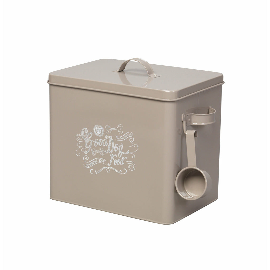 House of Paws Good Dog Large Food Bin with Scoop in Grey - PurrfectlyYappy