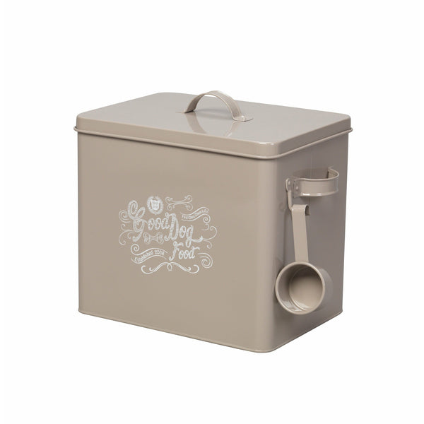 House of Paws Good Dog Large Food Bin with Scoop in Grey
