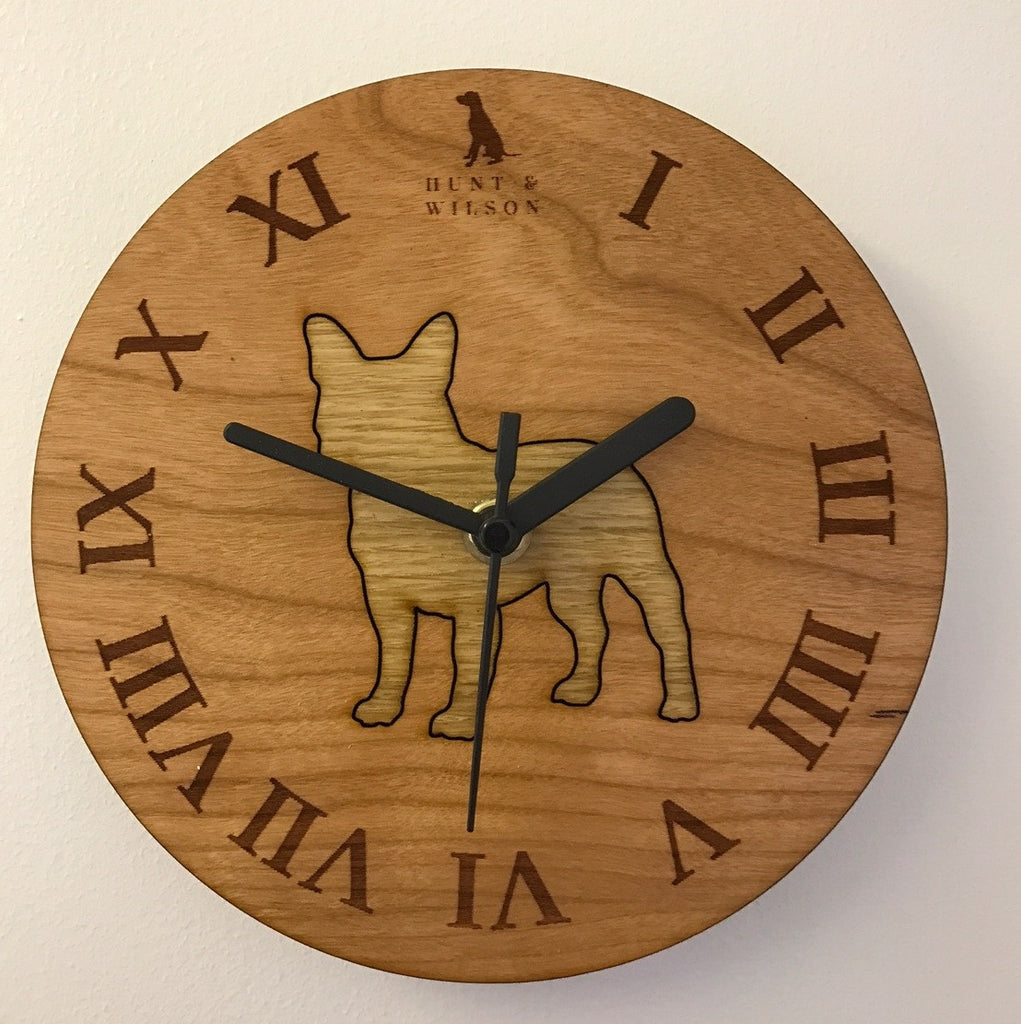Hunt & Wilson Wooden Dog Clock - PurrfectlyYappy
