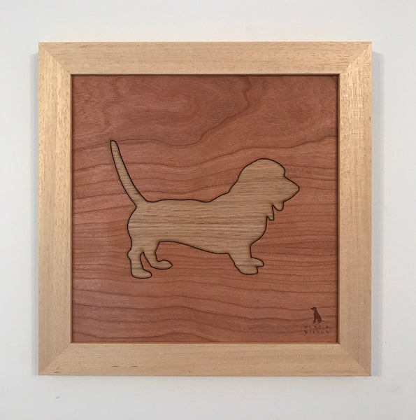 Hunt & Wilson Wooden Dog Art