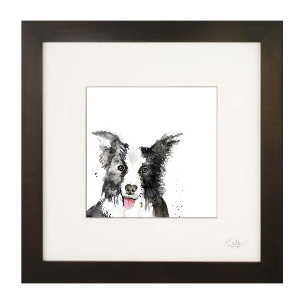 Kate Moby Framed Inky Dog Print
