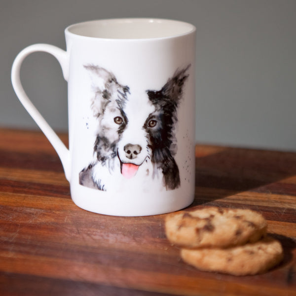 Kate Moby Inky Dog Fine Bone China Mug - PurrfectlyYappy