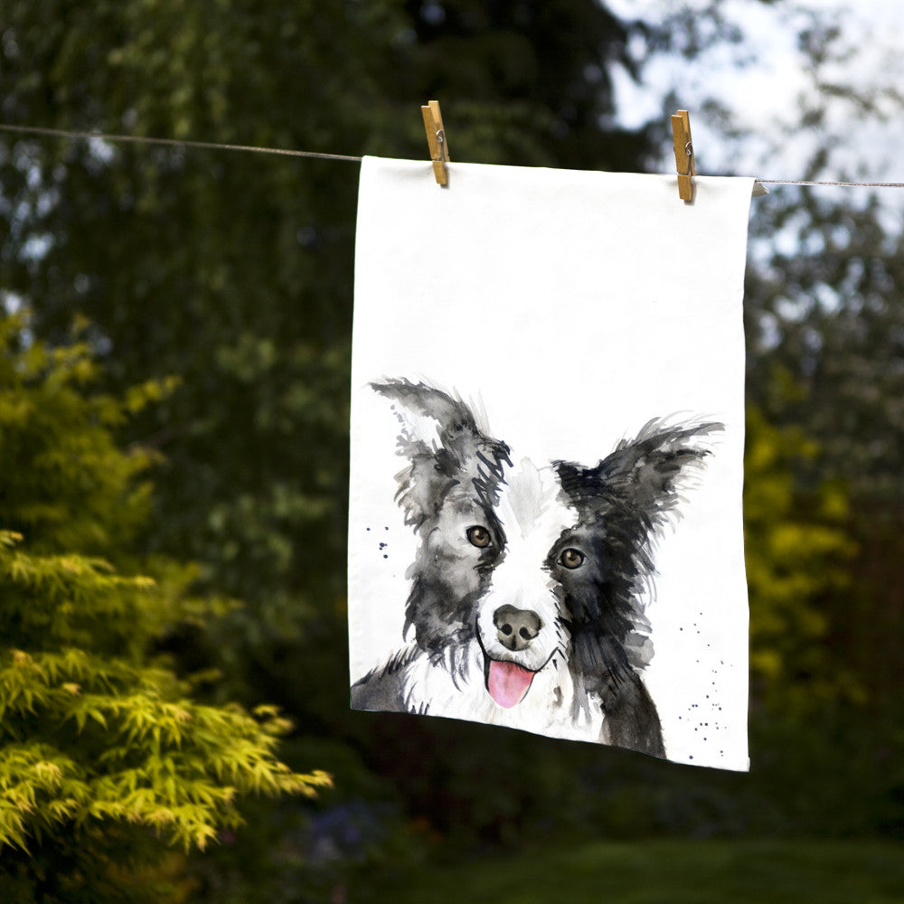 Kate Moby Inky Dog Tea Towel - PurrfectlyYappy