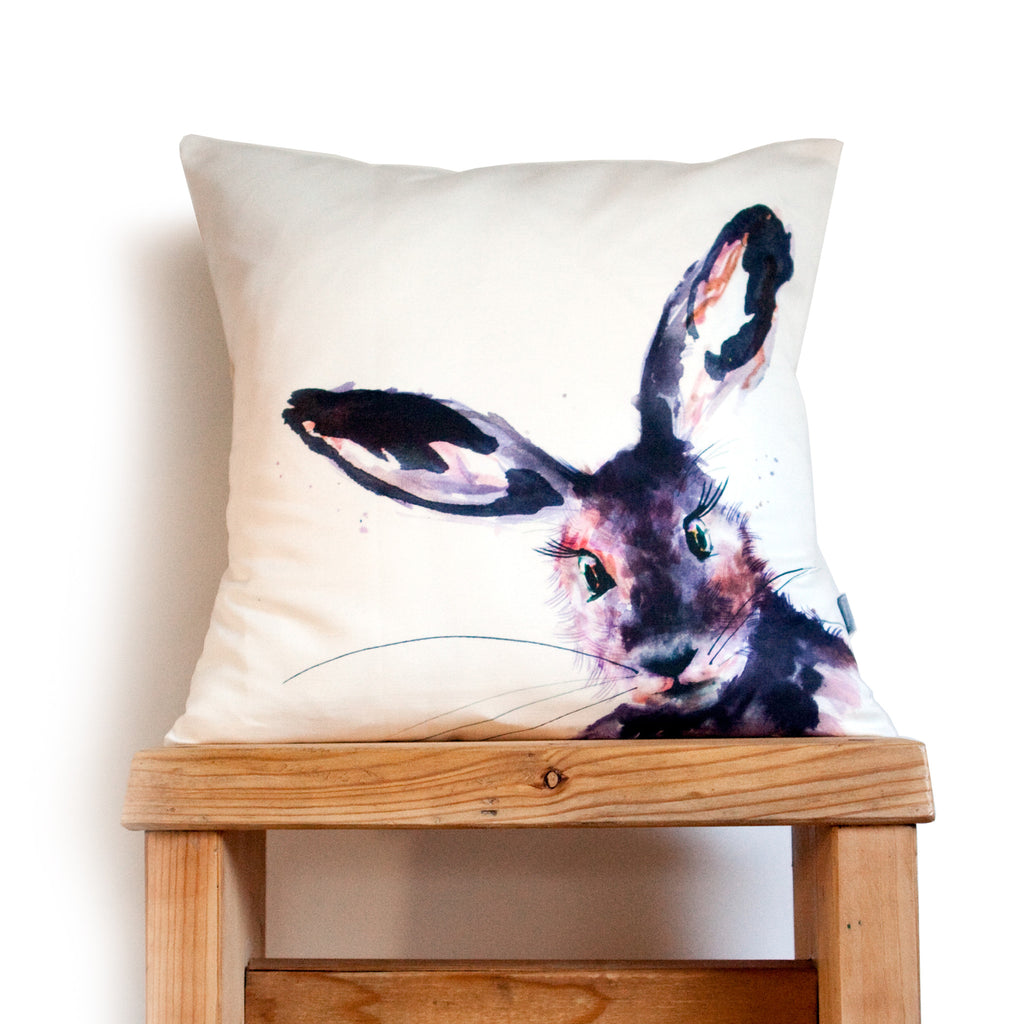 Kate Moby Inky Hare Cushion - PurrfectlyYappy