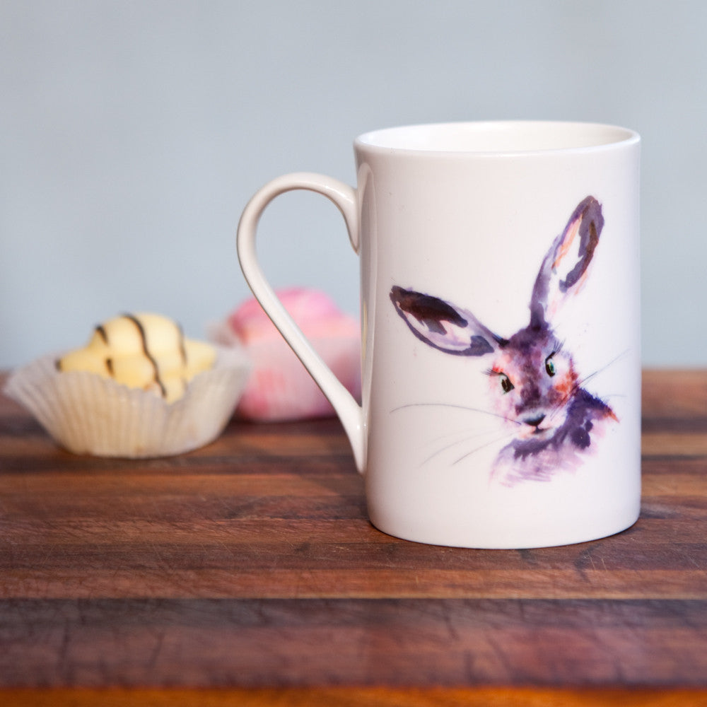 Kate Moby Inky Hare Fine Bone China Mug - PurrfectlyYappy