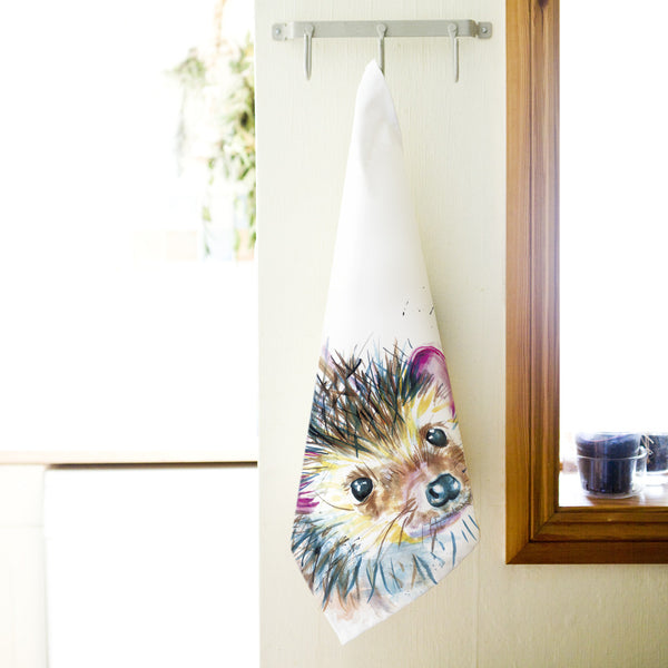 Kate Moby Inky Hedgehog Tea Towel - PurrfectlyYappy