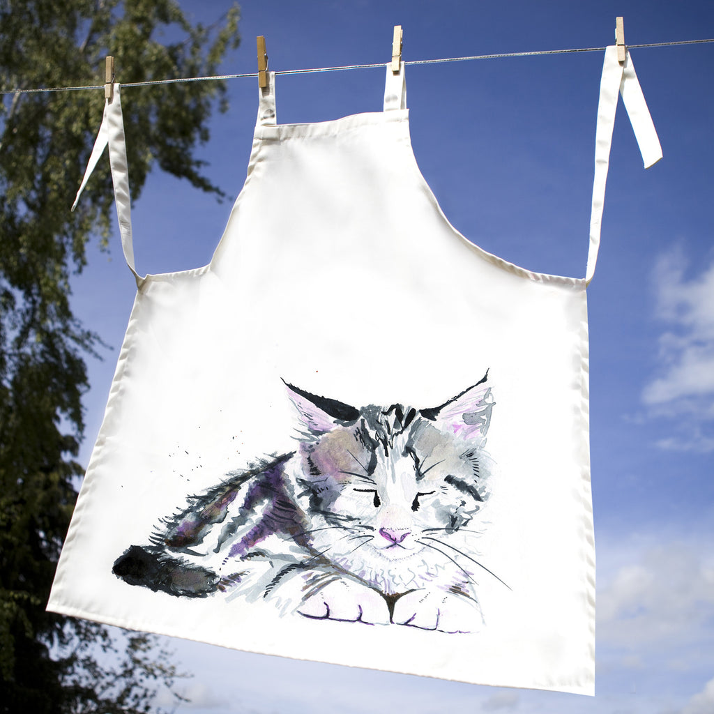 Kate Moby Inky Kitten Apron - PurrfectlyYappy