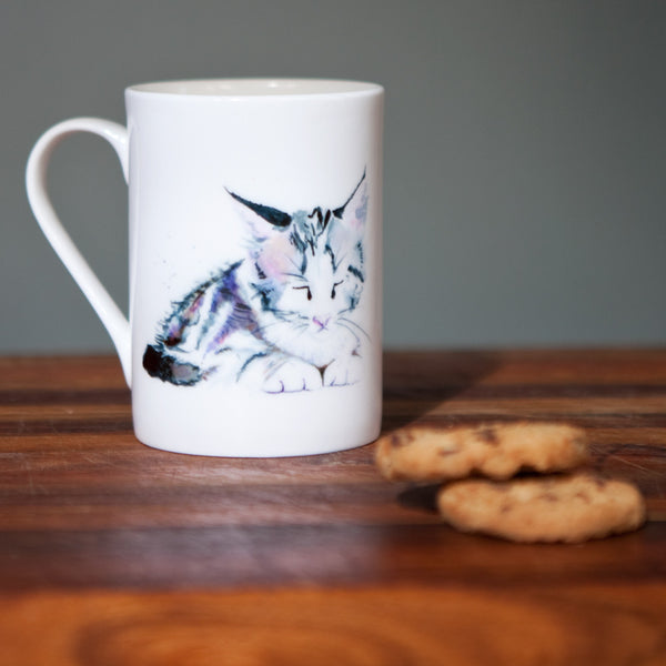 Kate Moby Inky Kitten Fine Bone China Mug