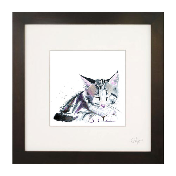 Kate Moby Framed Inky Kitten Print